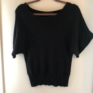 Limited dolman sleeve short sleeve sweater